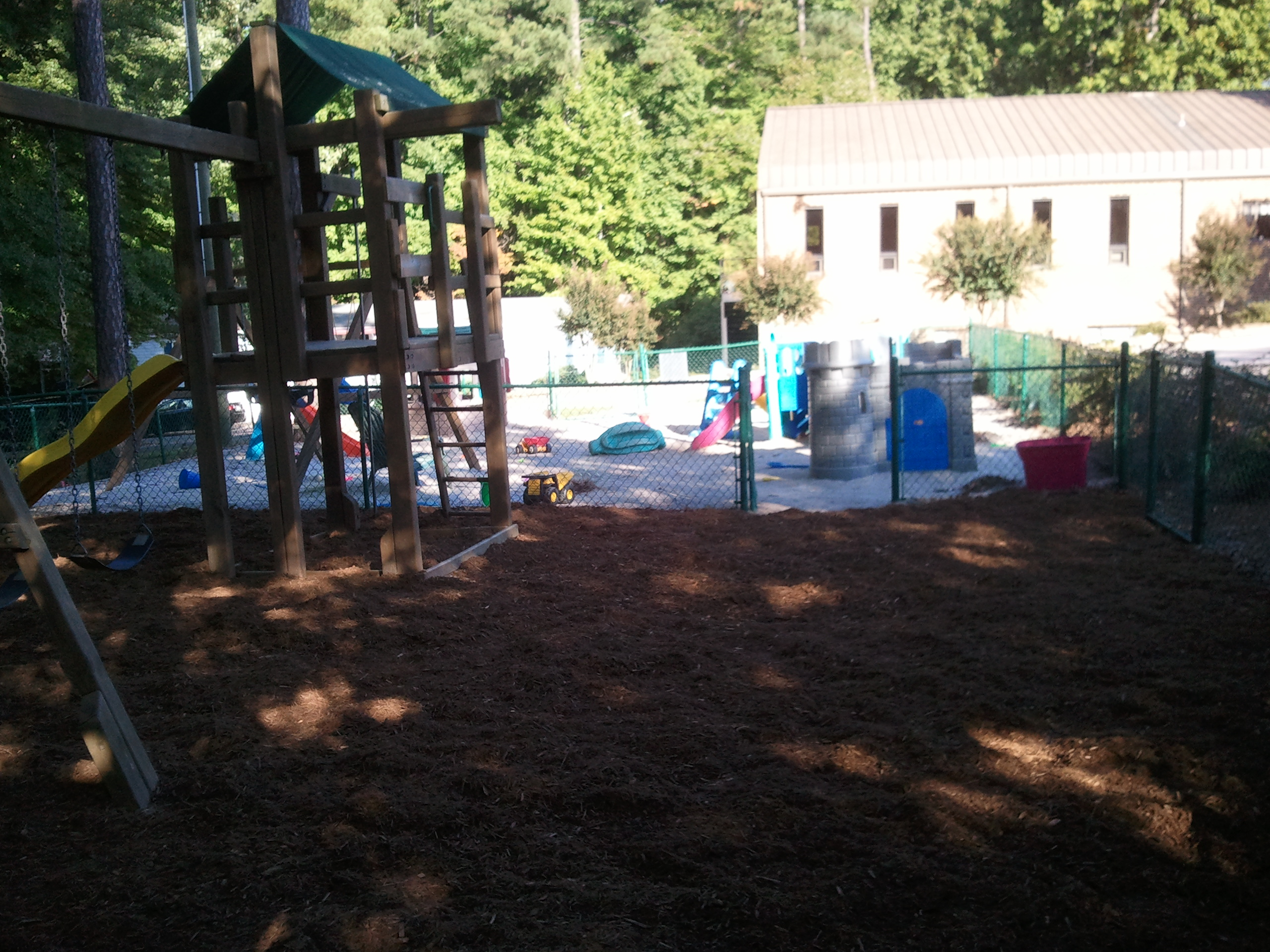 Playground - mulch side
